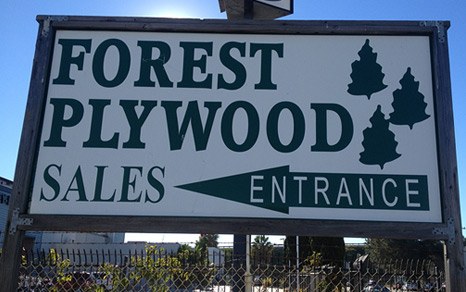 national city forest plywood sign