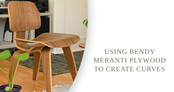 A chair is made from Meranti bendy plywood