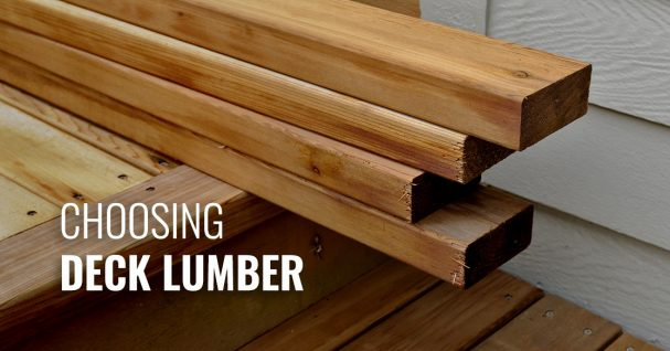 Guide to Deck Lumber