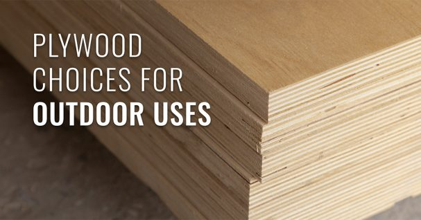 Plywood for outdoors